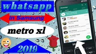Metro xl whatsapp support  How to use whatsapp in Samsung metro xl SM-351E 2019