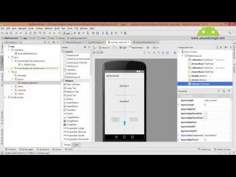 Android Studio Tutorial in Hindi (Simple Calci app)
