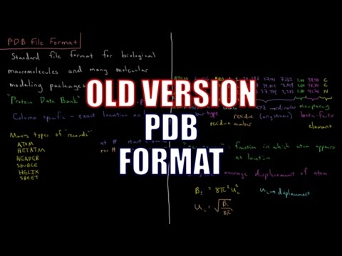 Computational Chemistry 1.2 - PDB File Format (Old Version)