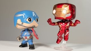 CAPTAIN AMERICA & IRON MAN Funko Pop 2 Pack MARVEL COLLECTOR CORPS exclusive review