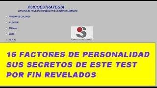 16 FACTORES DE PERSONALIDAD, TEST APLICADO EN 70% DE LAS EMPRESAS