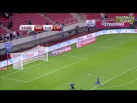 Greece vs Cyprus  2:0 - World Cup 2018