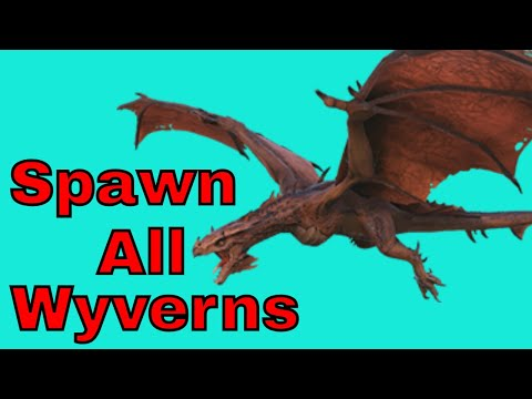How To Spawn ALL Wyverns In Ark Xbox One And PS4