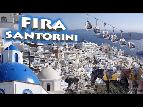 Fira - Santorini , Greece 2016 4K