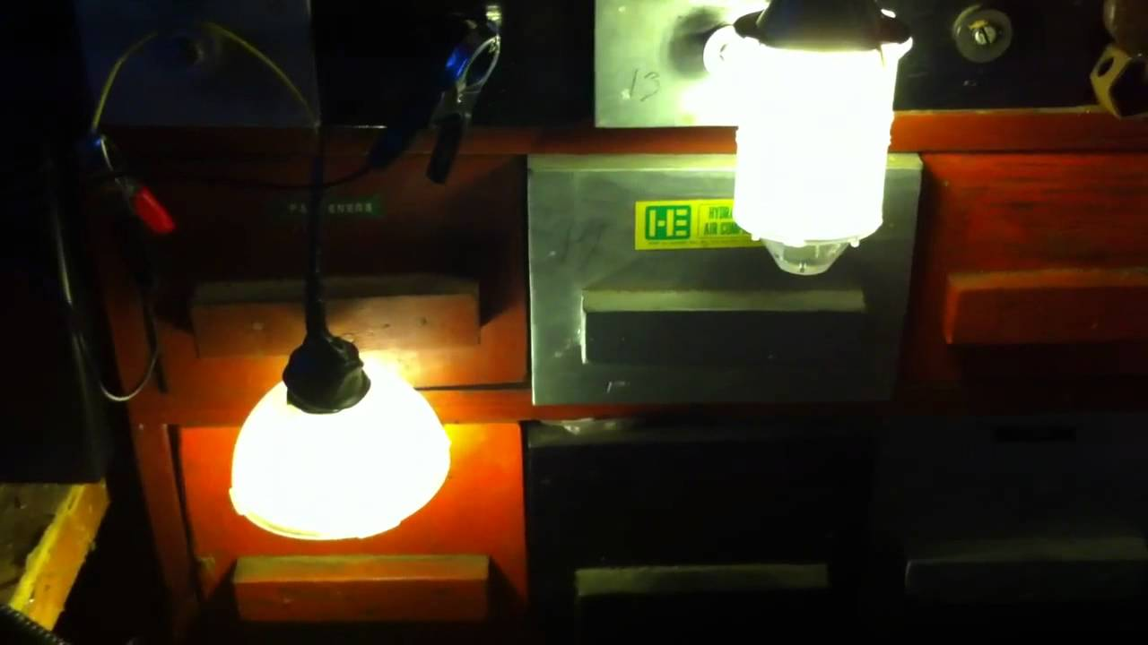 Homemade Solar Lights Homemade 12 Volt Led Emergency Solar Lights Youtube