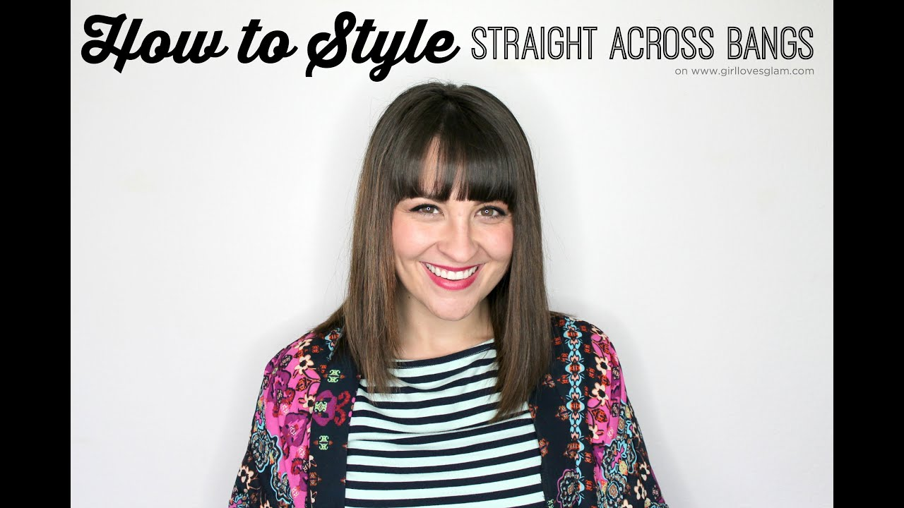how to style straight across bangs youtube