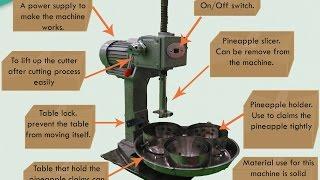 Automatic Pineapple Slicer Machine - DJJ6143 Student Final Year Project, Malaysia Polytechnic