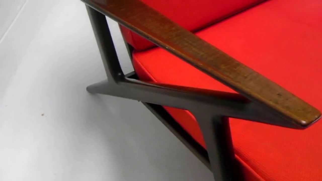 z chair mid century exercise ball as desk size the 60s modern danish selig poul jensen lounge rare 1195 00 youtube