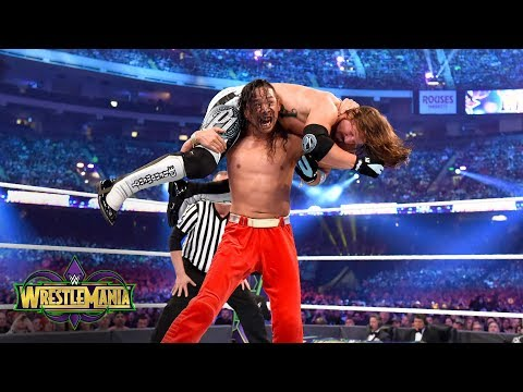 Styles and Nakamara pull out all the stops in dream match: WrestleMania 34 (WWE Network Exclusive)