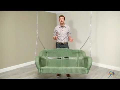 Casco Bay Resin Wicker Porch Swing   Sage   Product Review Video
