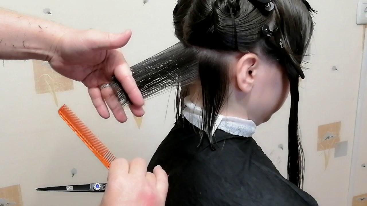 Женская стрижка каре | Обучение как стричь стрижку с нуля