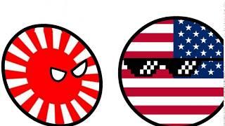 Countryballs Japan Karate cartoon über countryballs