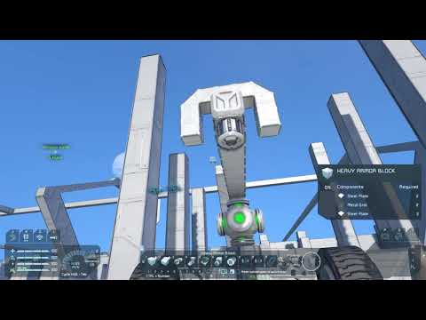 SPACE ENGINEERS, DRILL SHIP, BLOCK BY BLOCK STEP!!
