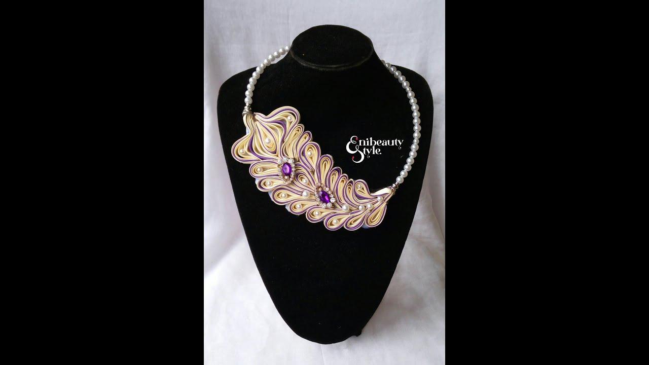 Satin Fabric jewelry - YouTube
