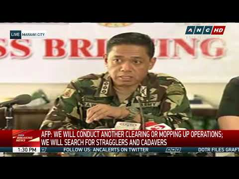 Marawi combat ops finally over: Lorenzana