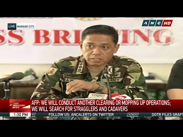 Marawi combat ops finally over: Lorenzana