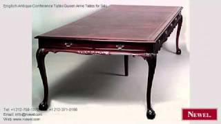 English Antique Conference Table Queen Anne Tables For