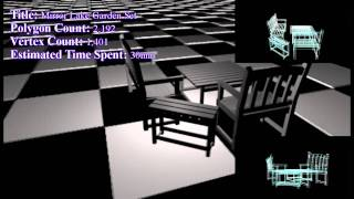 Simple Poly [2] - Mirror Lake Garden Set