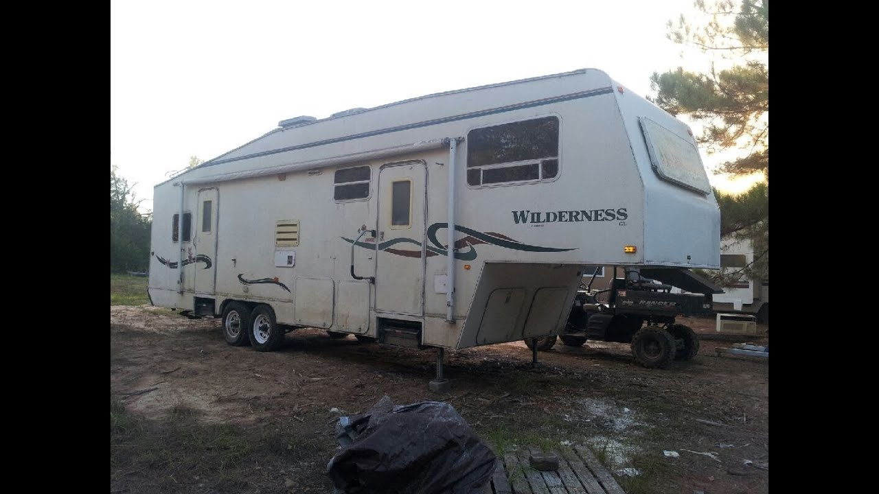 Quick RV Repair on a Rotted Wall  YouTube