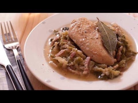 recette-:-blancs-de-poulet-aux-lardons-et-chou-vert