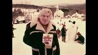 VINTAGE EUELL-GIBBONS POST GRAPE NUTS COMMERCIAL - VISITING NEW ENGLAND