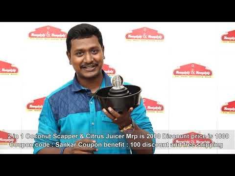 2 in 1 Coconut Scrapper & Citrus juicer   Meenakshi And Meenakshi
