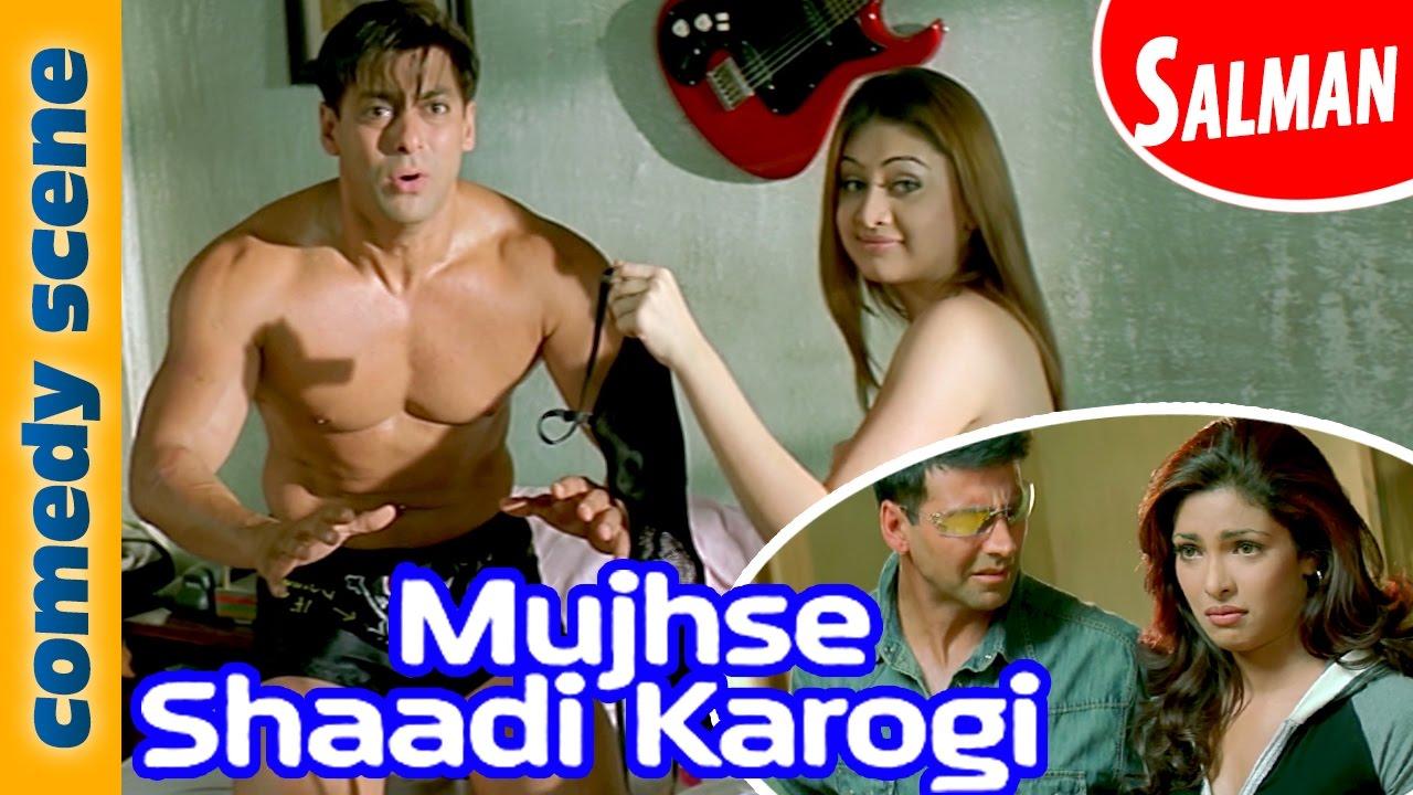 Salman Khan Comedy Scene    Mujhse Shadi Karogi   Indian Comedy