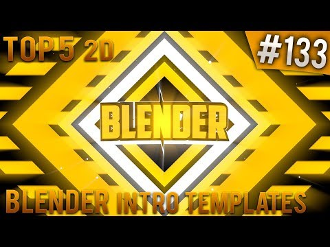 TOP 5 Blender 2D intro templates #133 (Free download