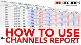Aim Academy - Episode 11 - How To Use Channels Report in Race Studio 3