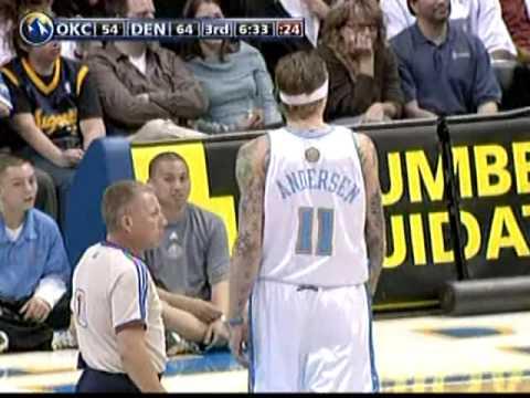 Russell Westbrook Posterizes Chris Andersen (3/11/09)