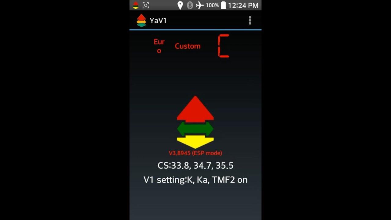 Radar Detector & Laser Jammer Forum » YaV1 Valentine App
