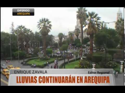 Lluvias continuarán en Arequipa