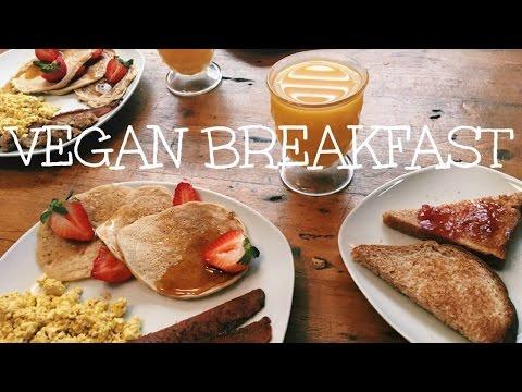 Traditional American Vegan Breakfast