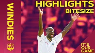 Windies vs England 3rd Test Day 1 2019 | Bitesize Highlights