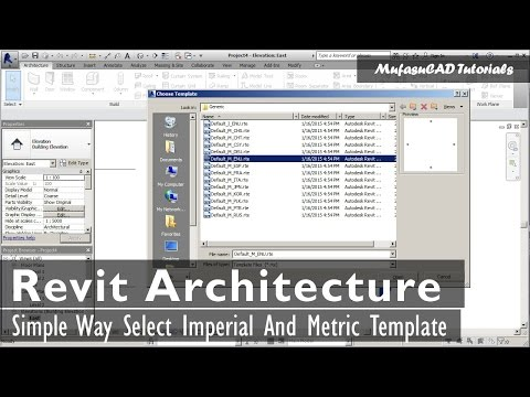 Simple Way Select Revit Architecture Imperial And Metric Template