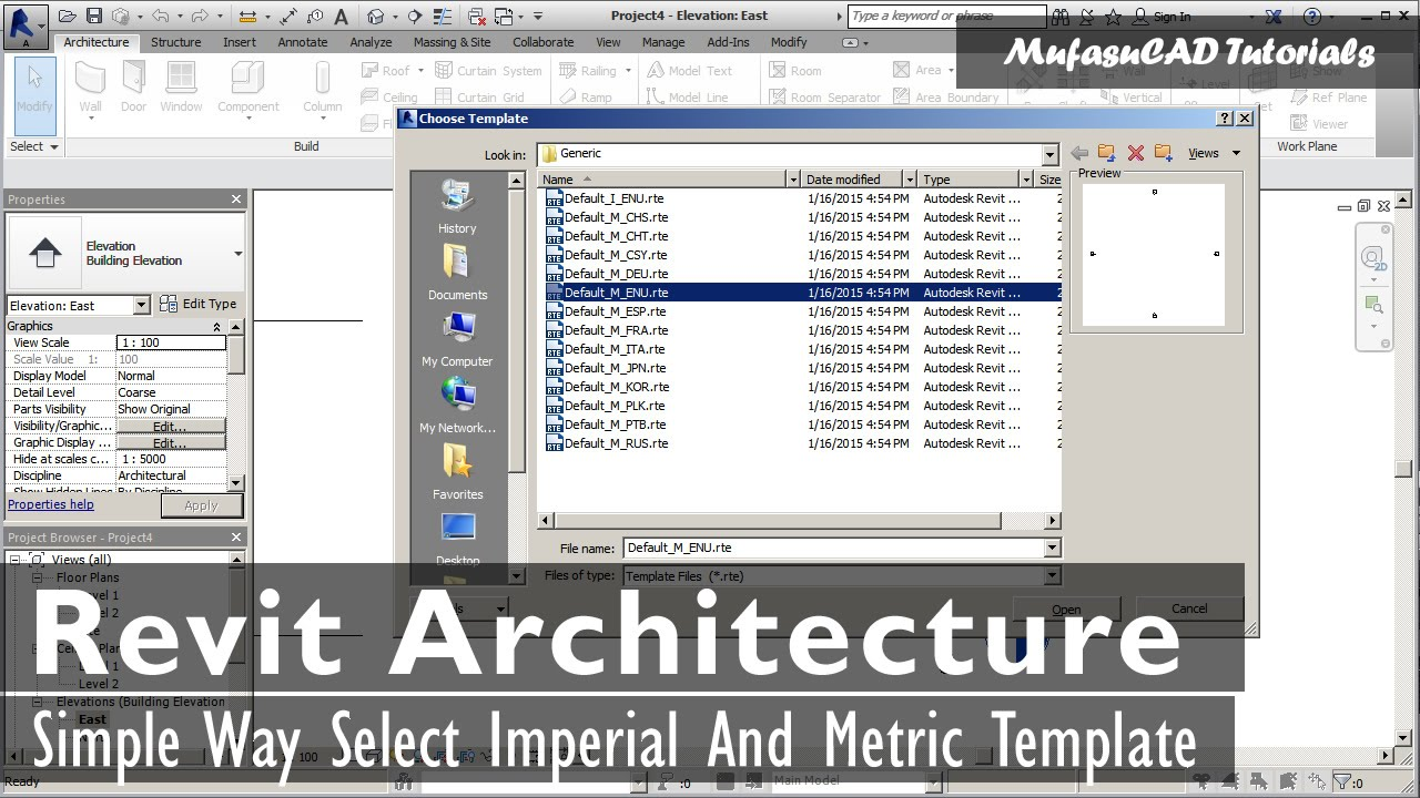 Simple Way Select Revit Architecture Imperial And Metric Template ...