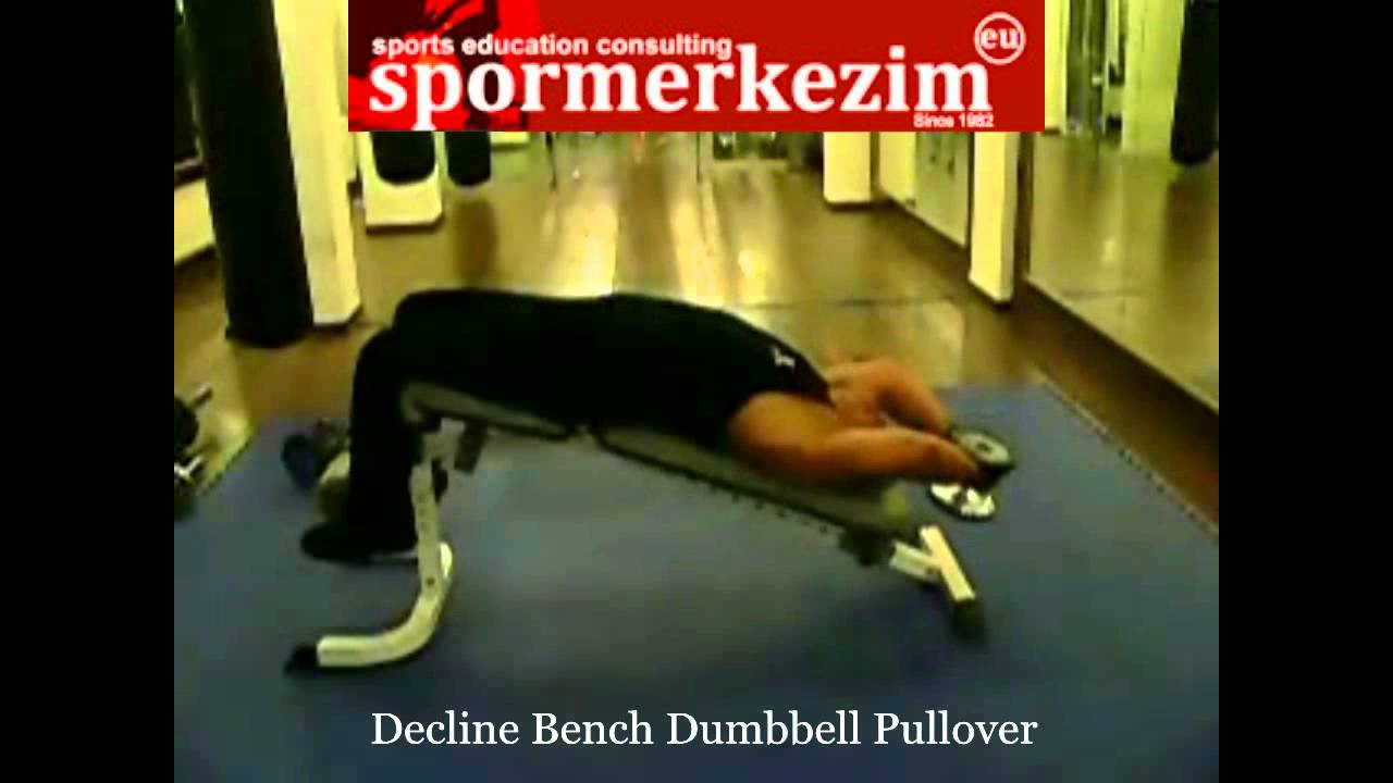 Chest Decline Bench Dumbbell Pullover Youtube