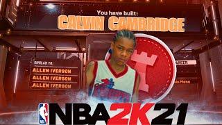 NBA 2K21 CALVIN CAMBRIDGE BUILD!! LIKE MIKE IS A DEMIGOD IN NBA 2K21!!!!
