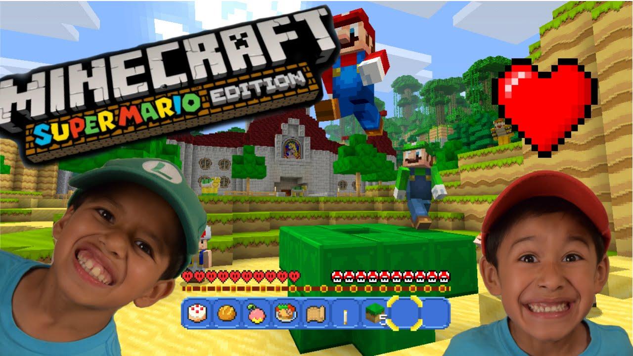 Kids Play Minecraft Super Mario Edition First Impressions Pt - Minecraft maps fur kinder