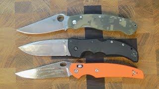 небольшой тест больших складных ножей