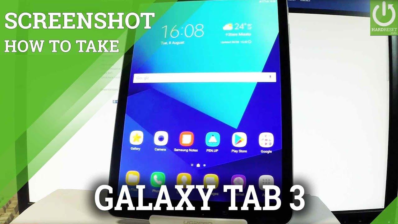 How To Take Screenshot On Samsung Galaxy Tab S3 Capture Screen Youtube