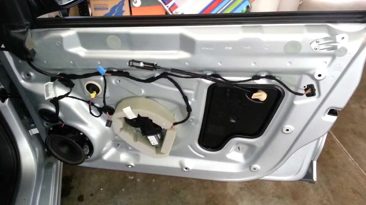 hight resolution of 2012 vw jetta metal door frame interior plastic door panel removed to upgrade oem speaker youtube