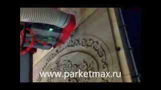 Художественный паркет - изготовление розетки(, 2013-08-28T09:39:04.000Z)