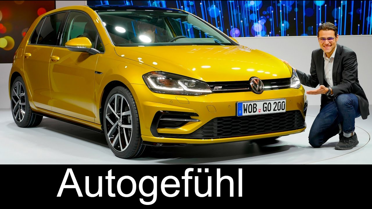 vw volkswagen golf 7 facelift r line gti gte variant review reveal 2018 2017 youtube