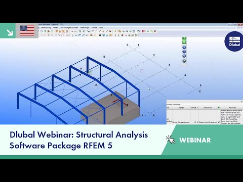 Dlubal Webinar: Structural Analysis Software Package RFEM 5
