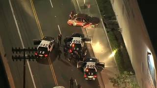 Wild police chases In Los Angeles with a stolen car