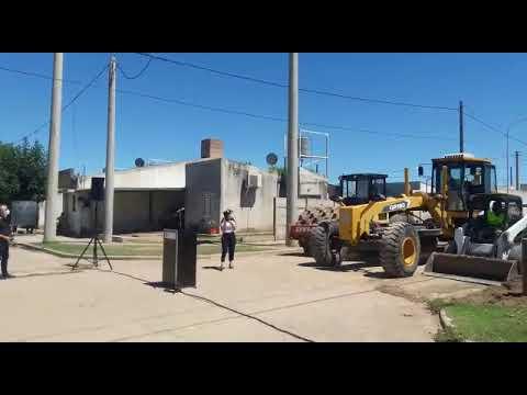 Empezó la obra de pavimento para 33 cuadras en barrio Evita