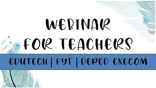 EduTECH Asia | FREE WEBINARS FOR TEACHERS