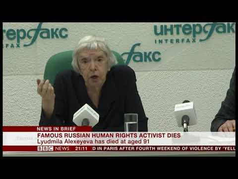 Lyudmila Alexeyeva passes away (1927 - 2018) (Russia) - BBC News - 8th December 2018