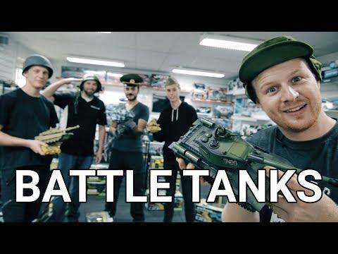 Battle Tanks - sæt med 2 fjernstyrede kampvogne der skyder infrarødt